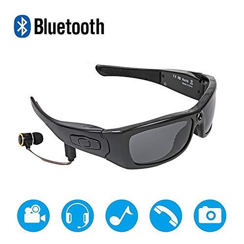 YDEYE Wireless Bluetooth 4.1 Sonnenbrille Stereo Kopfhörer Digital Brillen mit Musik MP3-Player Musik Kopfhörer mit Kamera(Anti-blaues Licht)