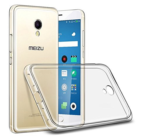 CUSTODIA di GEL TPU FINA ULTRA-THIN 0,3mm TRASPARENTE per MEIZU M5s