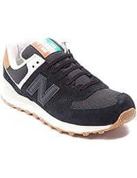 New Balance Women's WL574 Core Plus-W Lifestyle Sneaker, Black 1537, 35 B(M) EU/3 B(M) UK