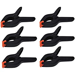 """iapyx Lot de 6pinces de serrage à ressort (de 2.5""""/64mm à 6""""/158mm)"""