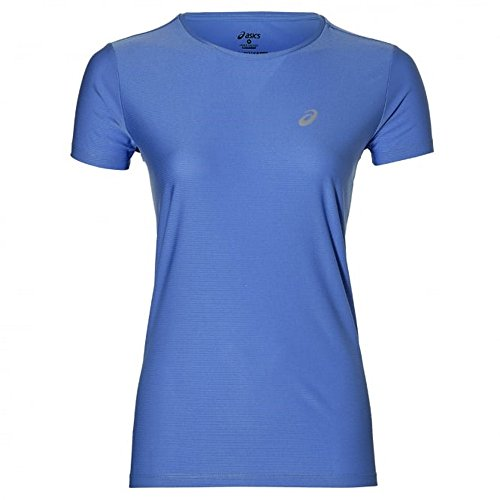 Asics SS TOP T-Shirt, Damen, Schwarz regatta blau