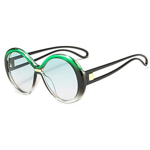 Sport-Sonnenbrillen, Vintage Sonnenbrillen, Luxury Sunglasses Women Men Classic Gradient Big Frame Sun Glasses Female Vintage Round Sunglass Goggles UV400