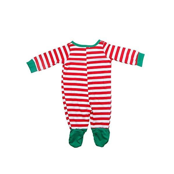 YOFASEN Pijamas Navideños Familiares - Ropa de Dormir para Mujeres Hombres Bebé Niño Invierno Algodón Pijamas Dos Piezas… 4