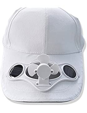 HanLuckyStars® Solarventilator Hut Kappe für Golf und Solar-Baseball-Cap mit dem kühlen Mini-Ventilator Outdoorsport...
