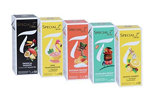 Special.T - Exotic Set - Schwarz-, Grün-, Früchte-, und Rooibostees (5 Sorten à 10 Kapseln)