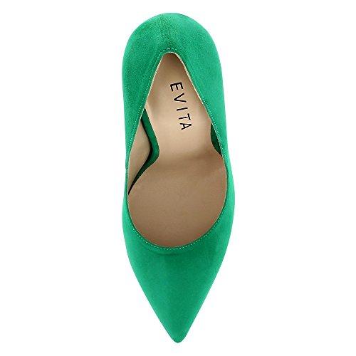 LISA escarpins femme daim Vert