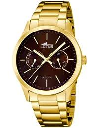 Lotus  15955/3 - Reloj de cuarzo para hombre, con correa de acero inoxidable, color dorado