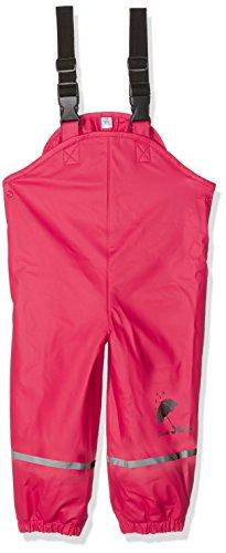 Sterntaler Baby - Mädchen Regenhose Regenträgerhose gefüttert 5651445, Gr. 74, Rot (Rubin 804)