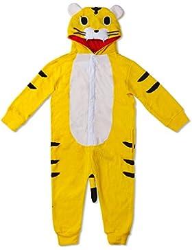 Katara - Pijama con capucha para niños, color amarillo, tigre, 8-10 años (CN 150) (1830)