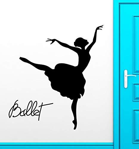 ziweipp Balletttänzer Wandaufkleber Tanztheater Leidenschaft Vinyl Aufkleber 72 * 114 cm