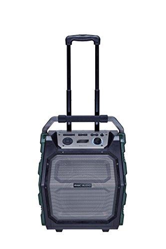 Mac Audio MRS 777 | Outdoor Kompaktanlage Trolley | USB, MP3, FM-Radio Boombox, Soundbox mit Bluetooth, MIC und AUX - Eingang | Karaoke Standlautsprecher mit Verstärker 150 Watt, 12h Akku