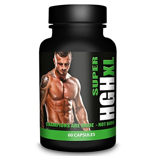 SUPER HGH XL Black Edition – 60 Capsules, 1-month Supply – Tribulus Terrestris, L Arginine, l Glutamine, Amino Acid – Sports Nutrition Supplement for Men by Natural Answers