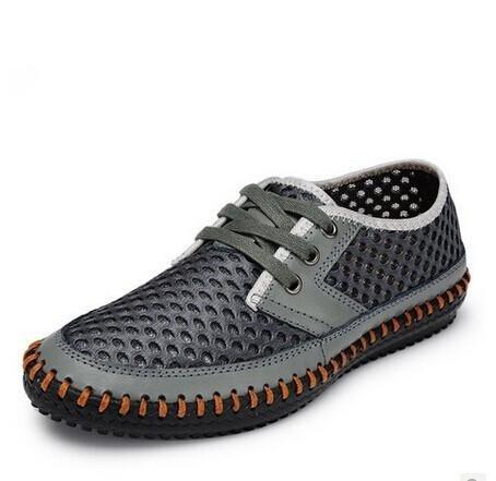 chaussures de natation grande sandales aux pieds nus vent net de maille chaussures patauger autocollants de chaussures de la peau douce carbon gray