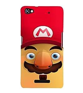 EPICCASE Mario Cartoon Face Mobile Back Case Cover For Micromax Canvas Hue 2 A316 (Designer Case)