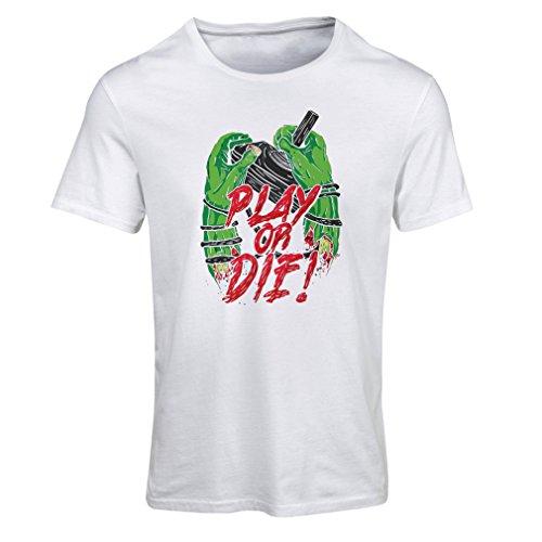 Frauen T-Shirt Spielen oder sterben - nur für Spieler! (XX-Large Weiß Mehrfarben)