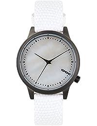 Komono Reloj de Mujer de Cuarzo con Madre de Pearl Esfera Analógica  Pantalla y Correa de Piel Color Blanco… 3054de5cd57
