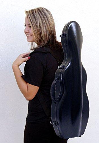 Custodia per violino 4/4 Fiberglass colore nero TONARELI + note borsa