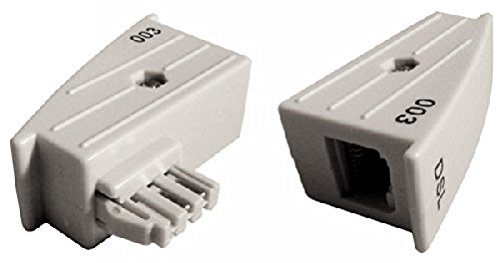 Produktbild COXBOX TAE RJ45 DSL Adapter für Fritz!Box o. Speedport - 4/5 belegt, Nicht 1/8 GRAU 8P2C