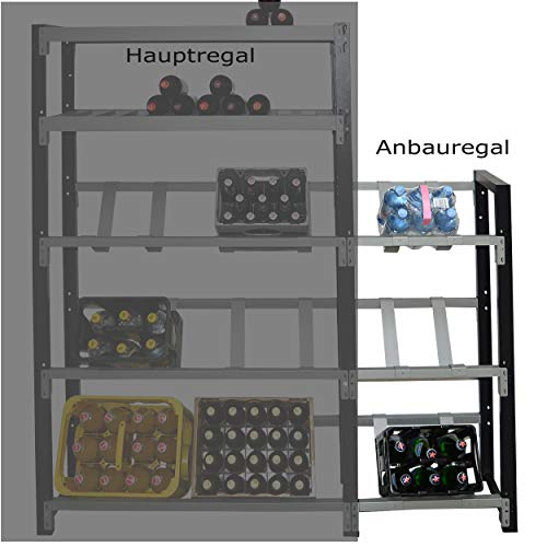 Getränkekistenregal für 3 Kisten - für Wandmontage geeignet (Anbauregal)