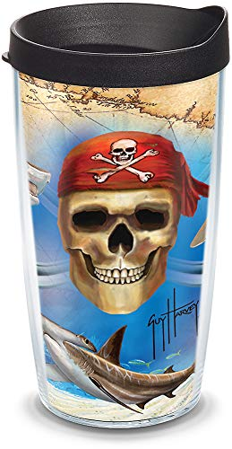 Tervis GHPI-I-16-WRA Guy Harvey Pirate Wrap Tumbler with Black Lid, 16-Ounce by Tervis Tervis Wrap
