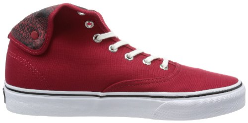 Vans U AUTHENTIC HI 2 (SNAKE)CHILIPEP Sneaker, Unisex Adulto Rosso (Snake chili pepper/true white)