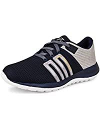 Connekt Men's Navy Blue Mesh Lace-Up Sports Shoes