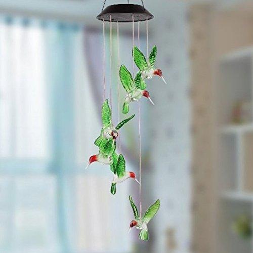 Generic Solar Windspiele Farbe Wechselnden LED Schmetterling Licht Lampe Hause Garten Dekoration – Grün - 5
