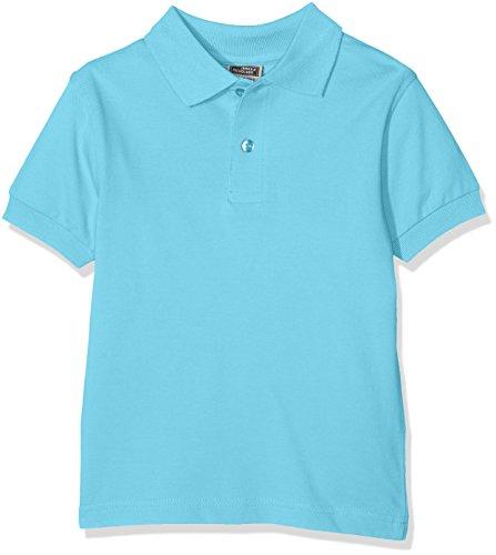James & Nicholson Jungen Classic Polo Junior Poloshirt, Blau (Pacific), 116 (Herstellergröße: S)