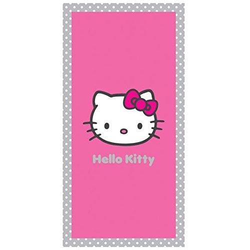 Hello Kitty–Toalla de Playa o de Baño (Salsa, 75x 150cm, 100% Algodón