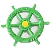 Gartenpirat Steuerrad Schiff apfelgrün mit Drehgeräusch Lenker für Spielturm Spielhaus
