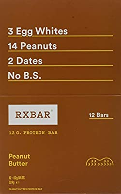 RxBar Peanut Butter Real Food Gluten & Dairy Free Protein Bar with No Added Sugar - 12-Pack by RxBar