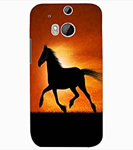 ColourCraft Magnificent Horse Design Back Case Cover for HTC ONE M8