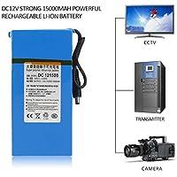 DC12V Fuerte 15000MAH Potente batería de Iones de Litio Recargable para cámara CCTV (Color: Azul)