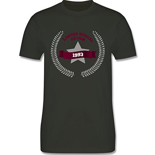Shirtracer Geburtstag - 1993 Limited Special Edition - Herren T-Shirt Rundhals Army Grün