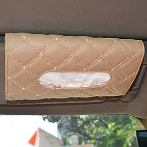 Autofurnish 7D Car Sun Visor Tissue Holder Box with Free Tissues(Tan)