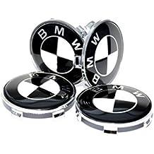 X468mm per tappo bianco e nero con logo emblema Centro Ruota in lega, BMW E39E60F10F12F20F30F32G11G30x1, x3, x4, X5X6serie 1, 3, 4, 5, 6, 7M3M5M6Z3Z4e altri modelli parte numero 36–13–6-783–536–3613678353636136783536