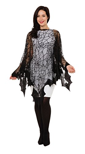 Bristol Novelty AC306 Spider Web und Fledermaus Fischnetz Cape, One Size (Spider Web Cape)
