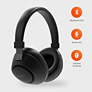 Porodo Bluetooth Headphones, Noise Cancelling Soundtec Deep Sound Pure Bass Wireless Over-Ear Headphones (Blac