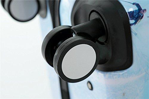 Polycarbonat Hartschale Koffer 2060 Trolley Reisekoffer Reisekofferset Beutycase 3er oder 4er Set in 7 Motiven (Flug(3er Set)) - 9