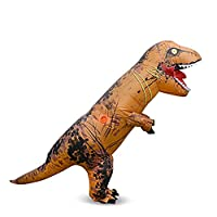 Kids Dinosaur Inflatable Costume Brown Dinosaur Fancy Dress for Kids being For kids being 90-150cm