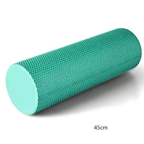 Aoacd rullo muscolare, trigger point superior massage muscle roller, perfetto strumento di automassaggio per casa, palestra, pilates, yoga(14.5cm x 45cm),green