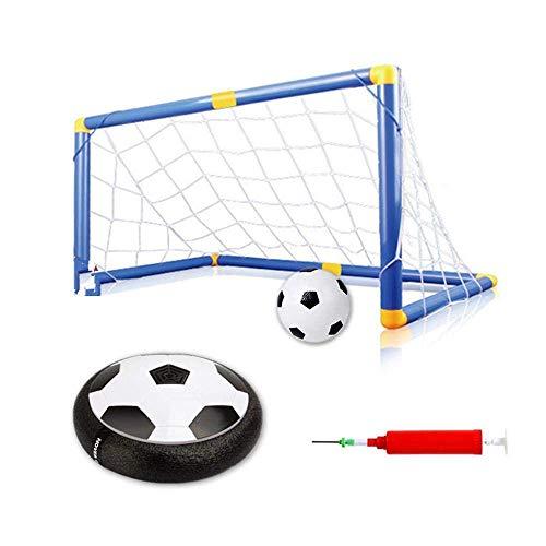 Jamisonme 4pcs Hover-Fußball-Innen-LED-Hover-Ball-Set mit Musikspiel-Air-Power-Fußball-Disc-schwebendem Fußball mit Toren für Familienfußball