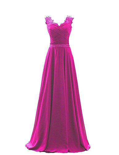Carnivalprom Damen Abendkleider Lang Maxikleider V-Ausschnitt Ballkleider mit Applikation...