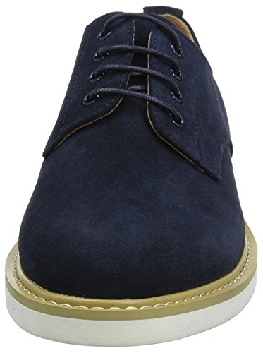 Peter Werth Shoes Pegg Suede Derby, Bottes homme Bleu Marine