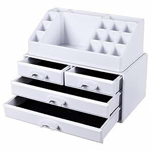 songmics kosmetik aufbewahrung organizer 4 schubladen. Black Bedroom Furniture Sets. Home Design Ideas