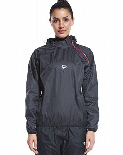 Cody Lundin Schwitzanzug Sauna Suit für Damen Saunaanzug Trainingsanzug Frauen Fitness Gewichtsverlust (XL, color-a)