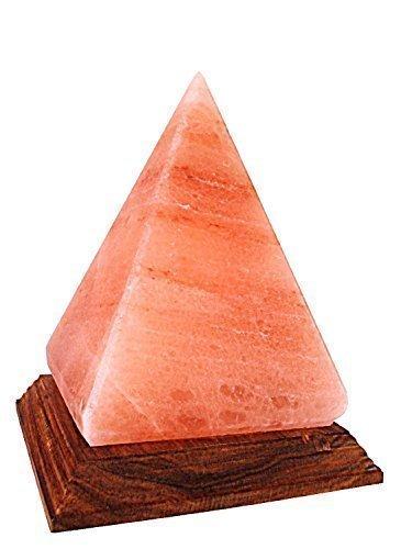 Lampada Sali Cristallo Himalaiano Forma Piramide (La Migliore Qualità di Cristalli di Sale)