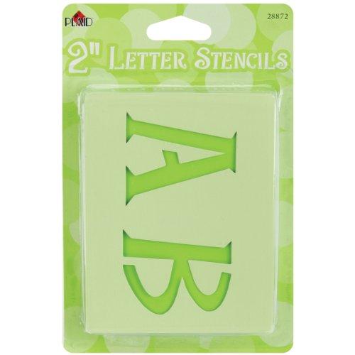 Bulk Buy : Plaid Boîte aux lettres lettre pochoirs Genie Lettre 5,1 cm 28 mb-872 (3)