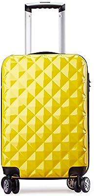 Maleta cabina 57 cm rígida policarbonato + abs diamante equipaje rigida con ruedas 20068 partyprince