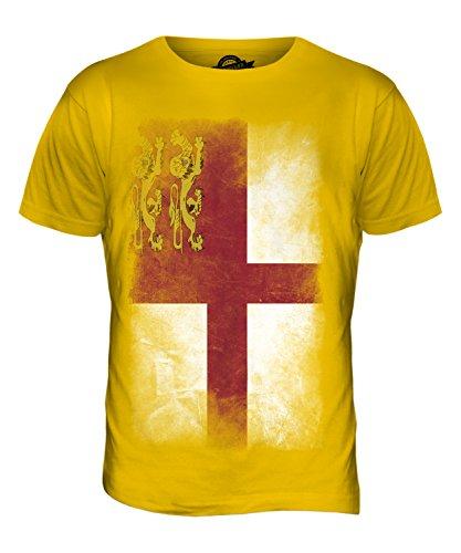 CandyMix Sark Verblichen Flagge Herren T Shirt Dunkelgelb